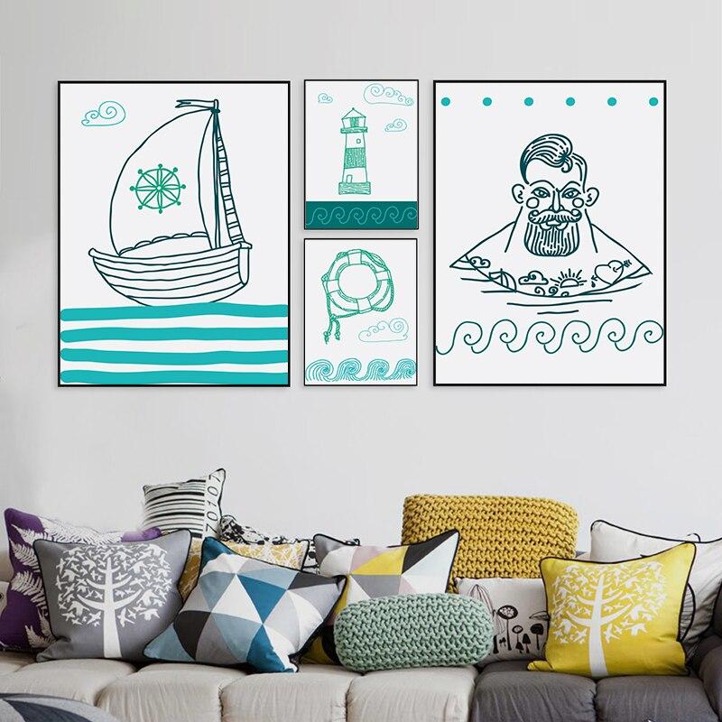 Северного моря путешествия холст Картины Плакаты печатает настенная Книги по искусству фотографии для Гостиная на стене Home Decor без рамы