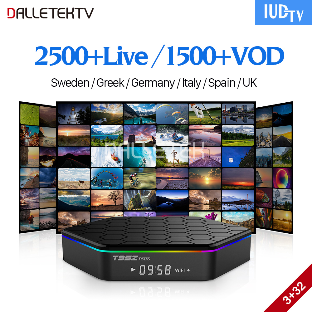 IPTV Sweden Box Android 7.1 T95Z plus 3G 32G TV Receivers with IUDTV IPTV Subscription Portugal Turkey Italy Spain Sweden IPTV цена и фото
