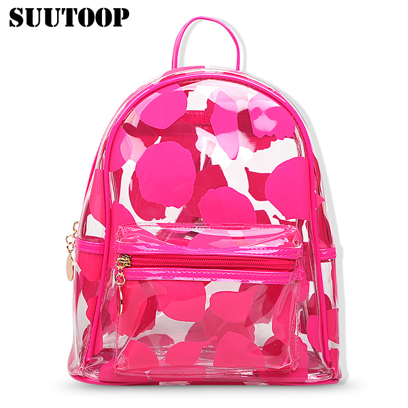 suutoop candy color summer jelly backpacks waterproof PVC stylish transparent korean womens beach bag female shcool bagsuutoop candy color summer jelly backpacks waterproof PVC stylish transparent korean womens beach bag female shcool bag
