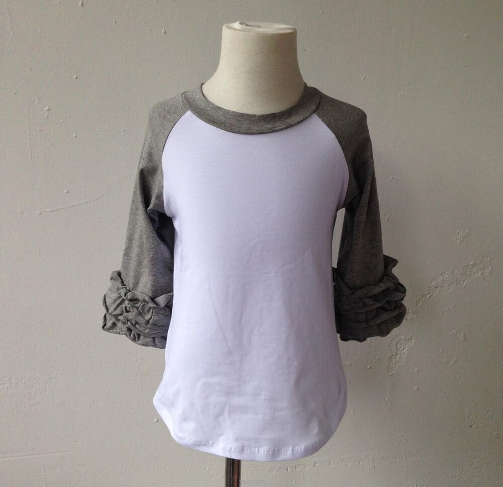 Hot sale boutique ruffle top baby high quality kids for High quality plain t shirts wholesale