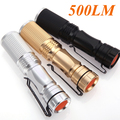 3-mode 500LM CREE LED Flashlight Torch Adjustable Focus Zoomable Light Lamp Black/Golden/Silver Flashilight For Camp Bicycle