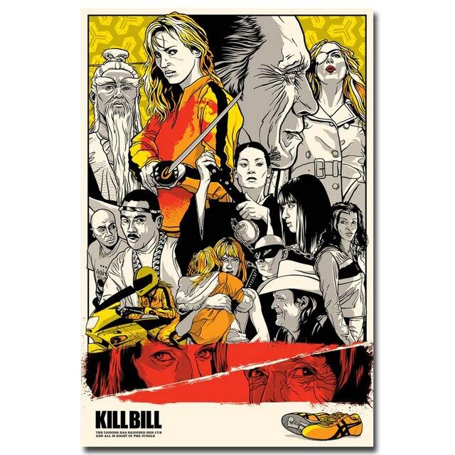 Плакат гобелен шелковый Убить Билла