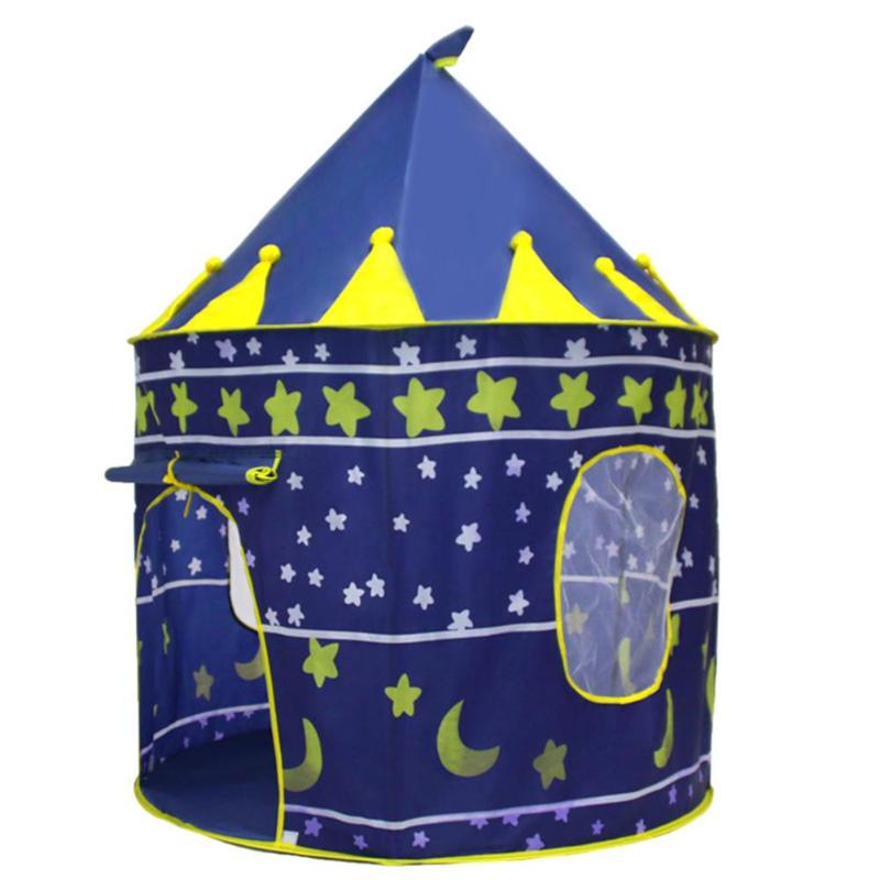Child Outdoor Camping Balls Pool Toy Tent Foldable Baby Kid Play House Princess Prince Castle Cubby Playhut Birthday Gifts