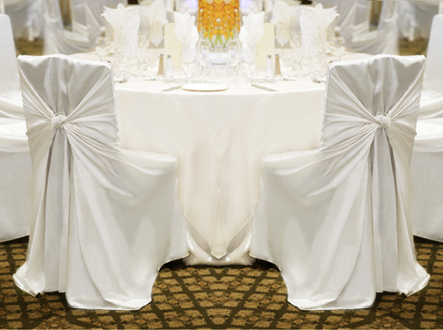 chair covers universal ivory for rent russian shipping 50pcs white satin cover self tie