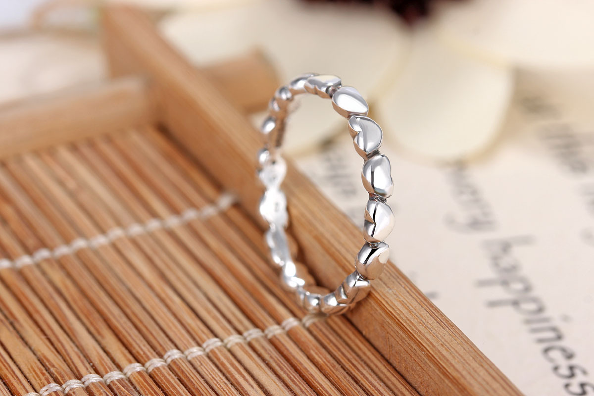 925 Sterling Silver Rings charm with Surrounded by love Wedding Rings for women R22