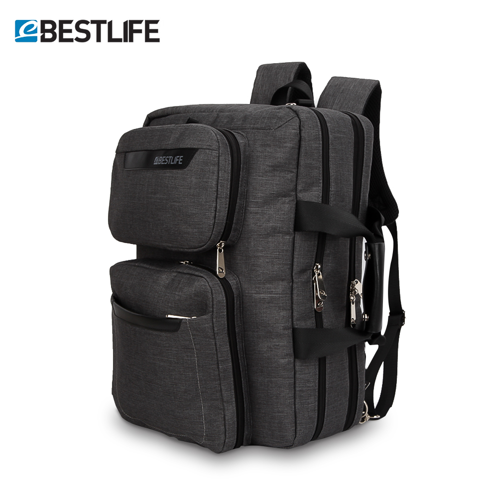BESTLIFET Transform Business Laptop Backpack Multi functional Anti theft Canvas Bag For Man Travel Bags Mochila