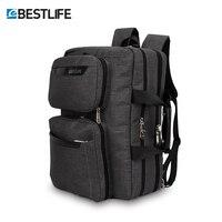 BESTLIFET Transform Business Laptop Backpack Multi functional Anti theft Canvas Bag For Man Travel Bags Mochila Mochilas Packbag