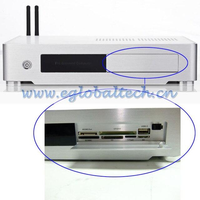 Wireless Mini Computers Desktop PC Dual Core G1610 2.6GHz, 4G  Memory, 1TB HD ITX Mini PC Desktop Computer  Alloy Mini Case PC