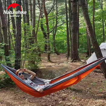 NatureHike Ultralight Hammock Outdoor Camping Hunting Hammock Portable Double person HAMMOCK  NH17D012 4