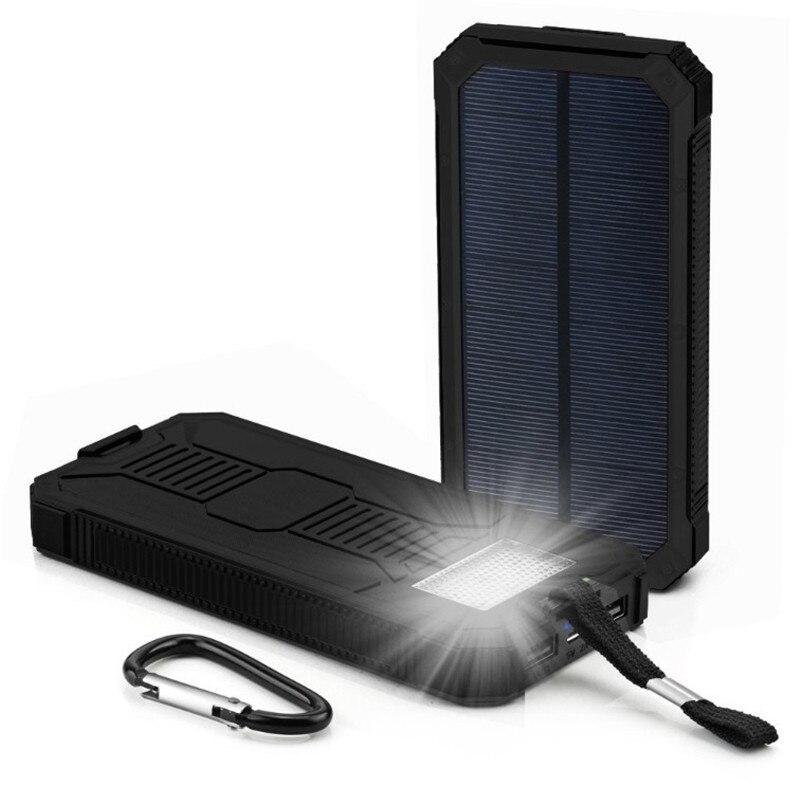 Solar 30000 mah Power Bank Externe Batterie ladung Dual USB Power Tragbare telefon Ladegerät für iPhone 8 XS max Xiaomi 7 8 plus