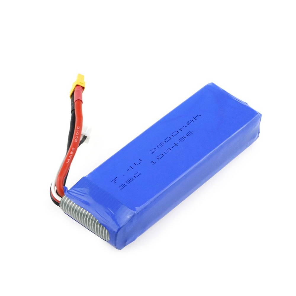Upgraded <font><b>7.4V</b></font> <font><b>2300mAh</b></font> 2S Li-po Rechargeable <font><b>Battery</b></font> with XT30 Plug Spare Parts Accessories for MJX Bugs 3 B3 /Bugs 6 RC Drone image