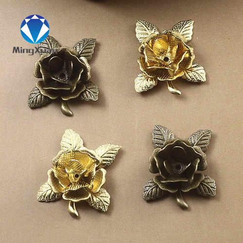 MINGXUAN 10pcs 20 มม.7 สีใหม่ดอกไม้ Filigree ตัวเชื่อมต่อ Charms ทองแดงวัสดุ DIY ผลการค้นหาเครื่องประดับ