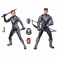 Marvel Legends Movie Avengers 4 Endgame Hawkeye & Black Widow Quantum Suit 2P Action Figure Iron Man Ant Man Nebula Heads Toys