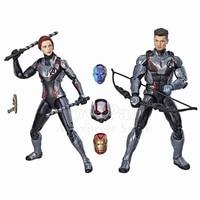 Marvel Legends Movie Avengers 4 Endgame Hawkeye & Black Widow Quantum Suit 2P Action Figure Iron Man Ant Man Nebula Heads Toys