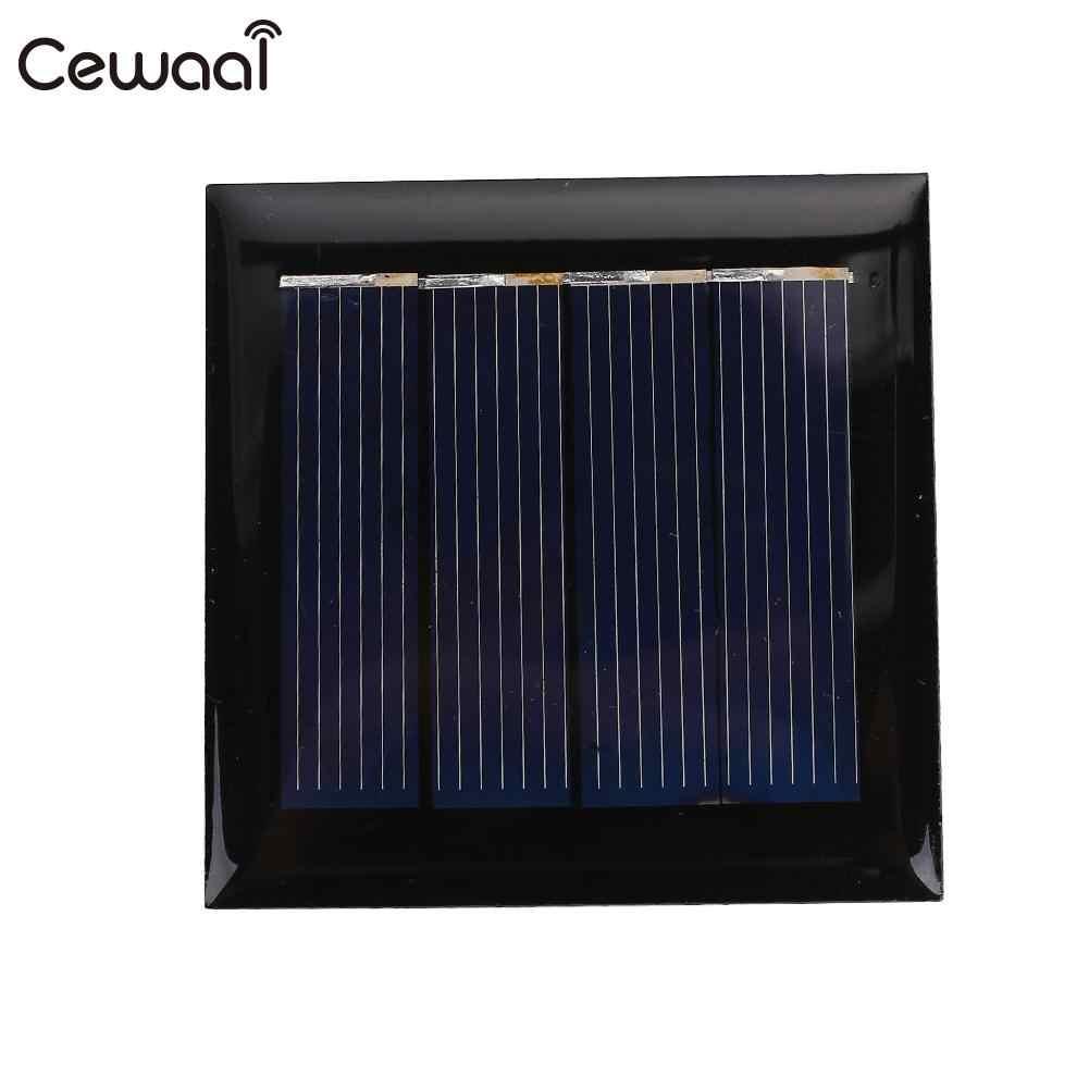 Cewaal خلية سيليكون لعبة 2 فولت 0.24 واط ألواح خلايا شمسية صغيرة 2 فولت 0.24 واط 100MA لوحة طاقة شمسية لتقوم بها بنفسك Sunpower 2 فولت 0.24 واط لوحة طاقة شمسية شاحن