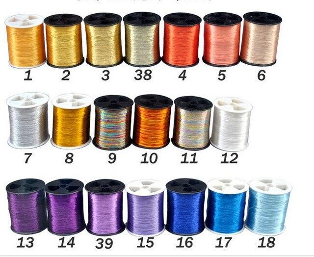 Envío libre MS tipo hilo de Bordar Metálico 200 m/cone40 colores ...