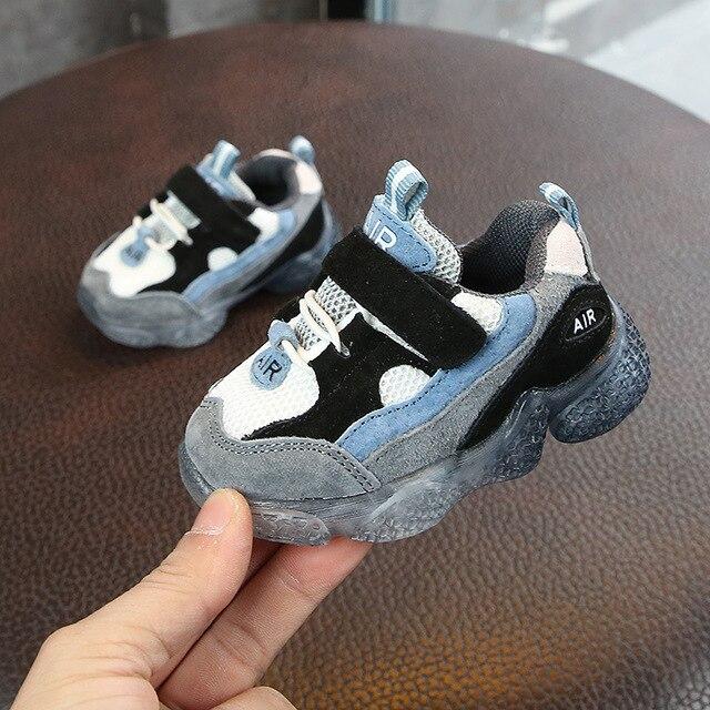דימי 2019 אביב חדש ילדי תינוק נעליים רך ומונע החלקה הראשונה הליכונים רשת לנשימה תינוק נעלי ספורט נעליים פעוטה עבור ילדה ילד