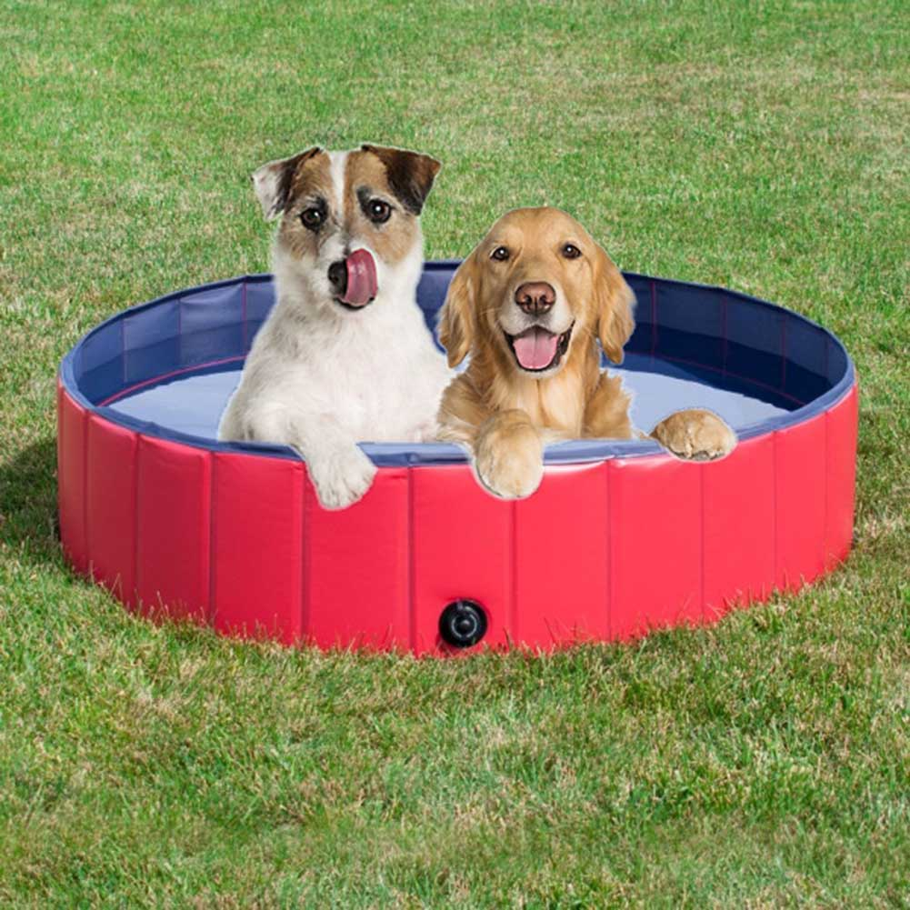 Foldable Pet Bath Pool Collapsible Travel Portable Puppy Bathing Tub for Cats Dogs 2018ing