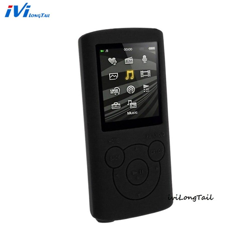 Silicone Case Cover for Sony Walkman NWZ E383 E384 E385 Case E383 384 385 Rubber Gel Skin Mp3 Covers Soft Bag Back Shell