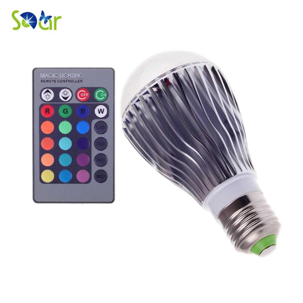 RGB LED Bulb E27 GU10 9W 110V 220V Lampada De LED Lamp Light Bulb Spotlight Bulbs 16 Color Change Dimmable With 1pcs Remote 3 5w e27 rgb led bulb 16 color change