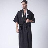 Japanese Kimono Dress Men S Kimono Bathrobe Cos Clothing Warrior Take Karate Uniform A Stage Performance
