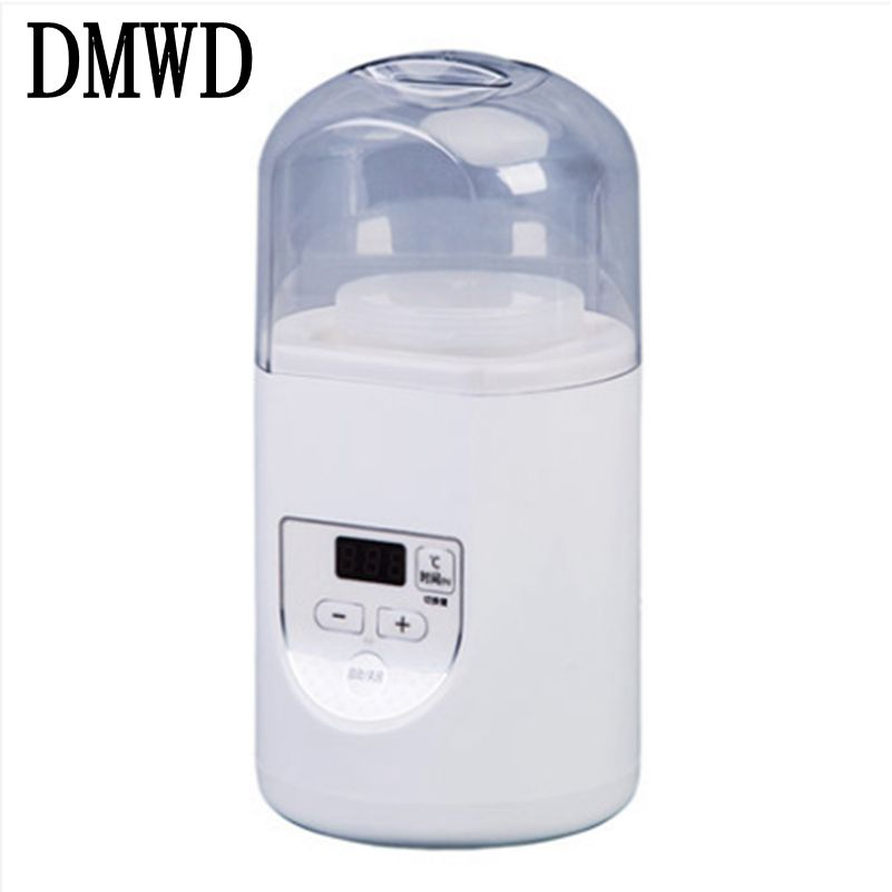 DMWD Household Electric Yogurt Maker Multifunction Portable Automatic mini Leben Yoghurt Machine Natto rice Wine fermenter 1L EU dmwd full automatic electric yogurt maker household yoghurt fermenting machine leben fermenter container 110v 220v dual voltage