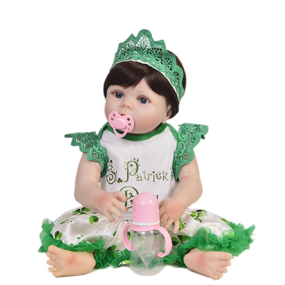 55cm Full Silicone Body Reborn Baby Doll lifelike alive Vinyl Newborn Princess Babies Bebe Bathe Accompanying Toy Birthday Gift55cm Full Silicone Body Reborn Baby Doll lifelike alive Vinyl Newborn Princess Babies Bebe Bathe Accompanying Toy Birthday Gift