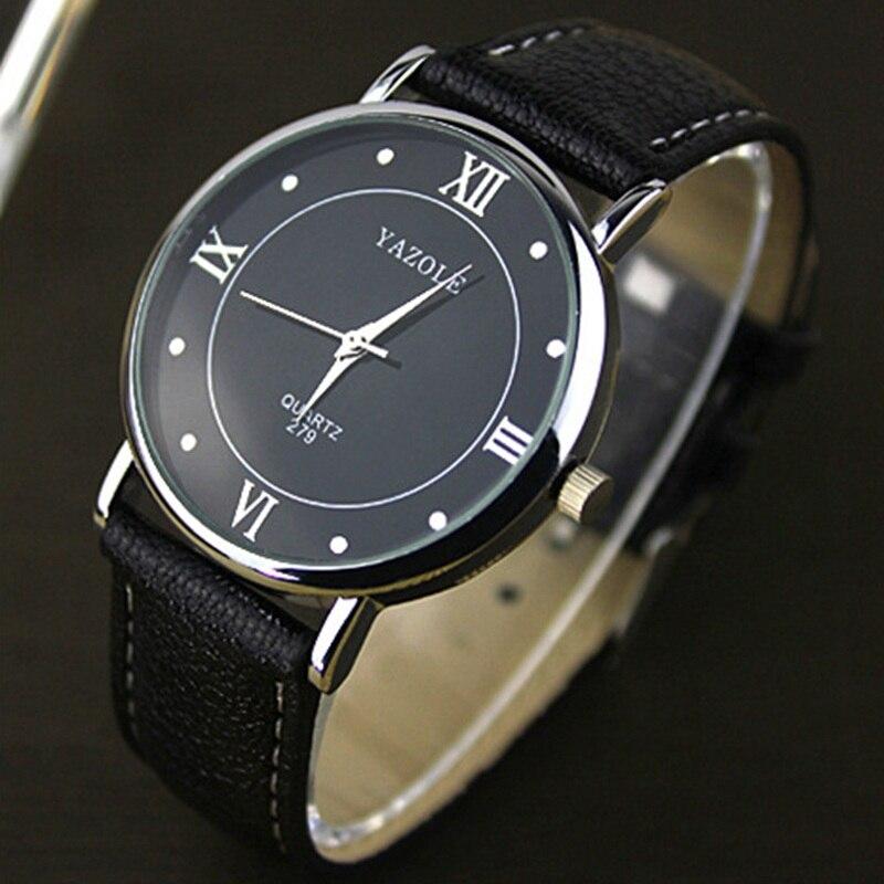 2017 YAZOLE Casual watch men Watches Brand Luxury Leather Men Military Wrist Watches Men Sports quartz