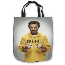 98bab5bb53 Custom Canvas HD-Hugh-Laurie- Tote Hand Bags Shopping Bag Casual Beach  HandBags