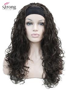 Image 1 - StrongBeauty длинный кудрявый черный коричневый блонд повязка на голову синтетический парик женские парики