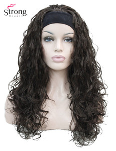 Image 1 - StrongBeauty ארוך מתולתל שחור חום בלונד סרט סינטטי פאה של נשים פאות