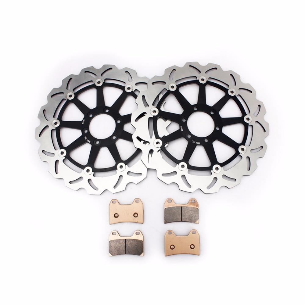 BIKINGBOY Front Brake Discs Disks Rotors Brake Pads For DUCATI 748 SPS 98 99 750 SPORT