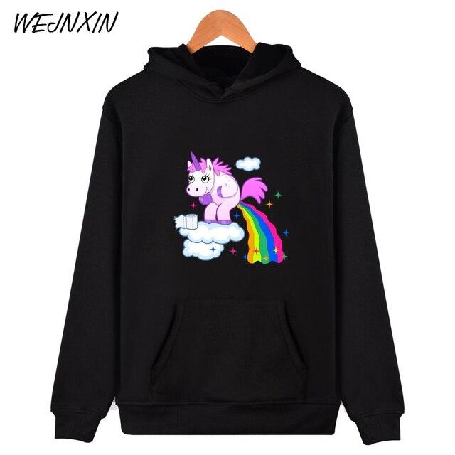 14 53 49 De Réduction Wejnxin Hipster Kawaii Licorne Imprimer Vestes à Capuche Femmes Animal Sweatshirts Mignon Dessin Animé Arc En Ciel Licorne