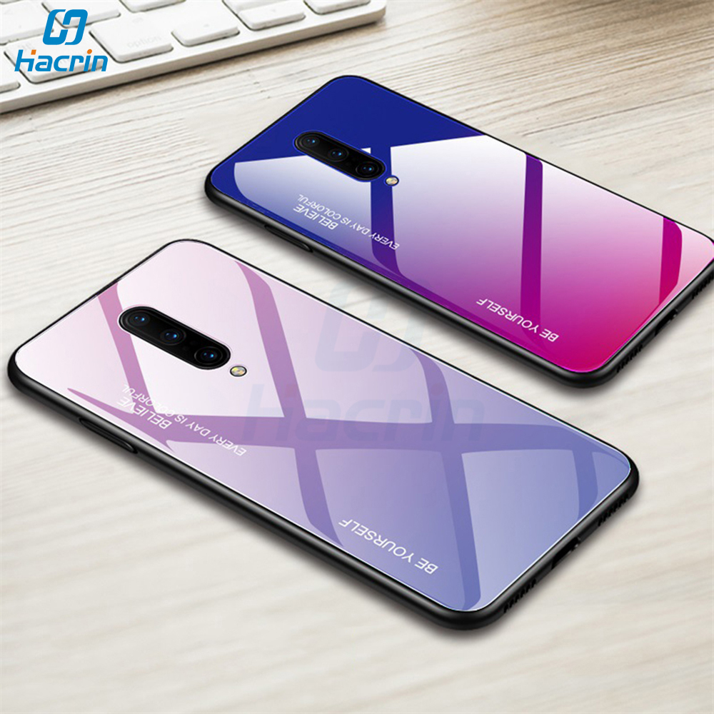 Hacrin Glass Case For font b Oneplus b font font b 7 b font Case Luxury