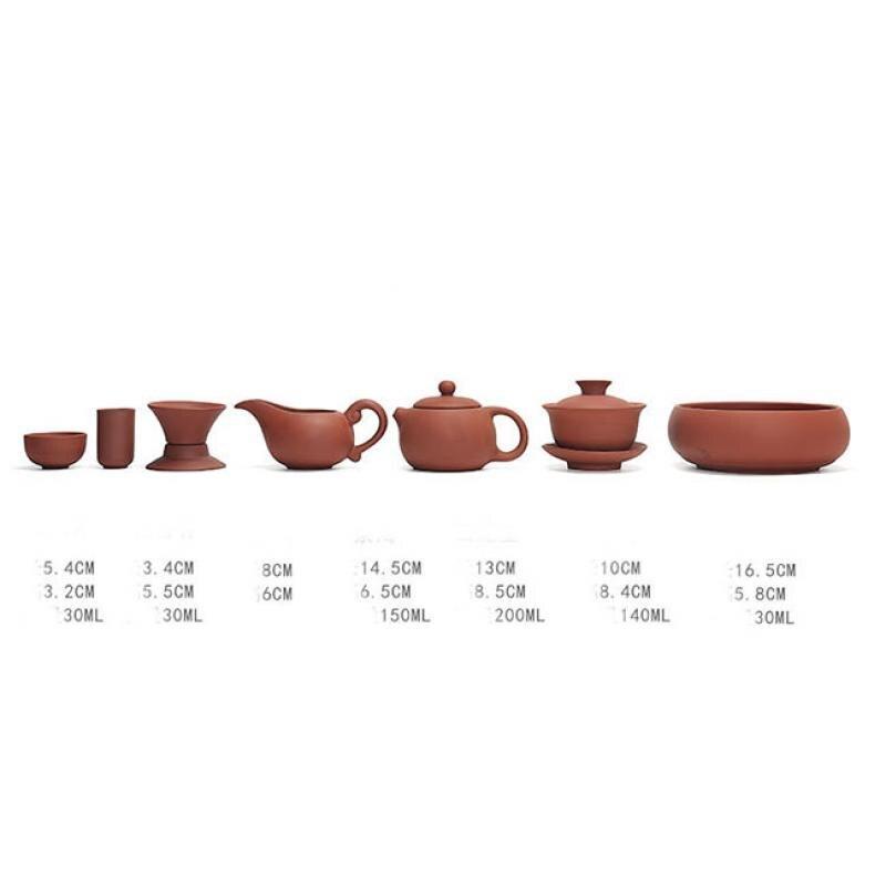 Tasse de théière Gaiwan Durable ensemble de thé chinois Kung Fu en céramique marron Teaware pour la maison famille fait à la main Drinkware cérémonie cadeau unisexe