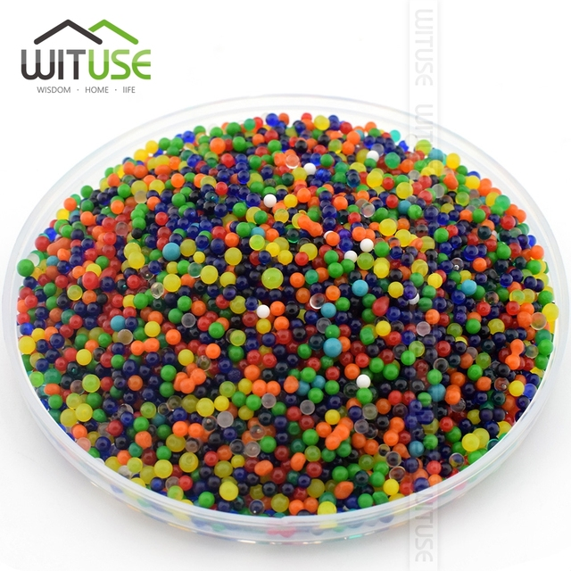 10000 Particles /lot Pearl Shaped Crystal Soil Water Beads Mud Grow Magic Jelly Balls Wedding Home Decor Hydrogel Water Beads