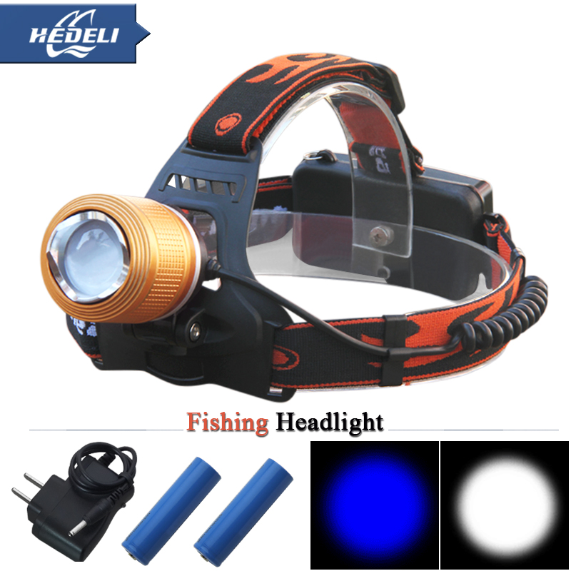 <font><b>Blu-ray</b></font> White light fishing hunting camping led headlamp Zoomable Rechargeable headlight head flashlight cree q5 18650 <font><b>Battery</b></font>