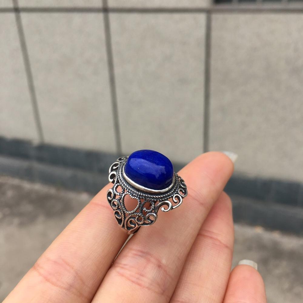Lapis Lazuli Ring Real 925 Steling Silver s925 100% Natural Blue Lapis Lazuli Gemstones Males Fine Rings for MenLapis Lazuli Ring Real 925 Steling Silver s925 100% Natural Blue Lapis Lazuli Gemstones Males Fine Rings for Men