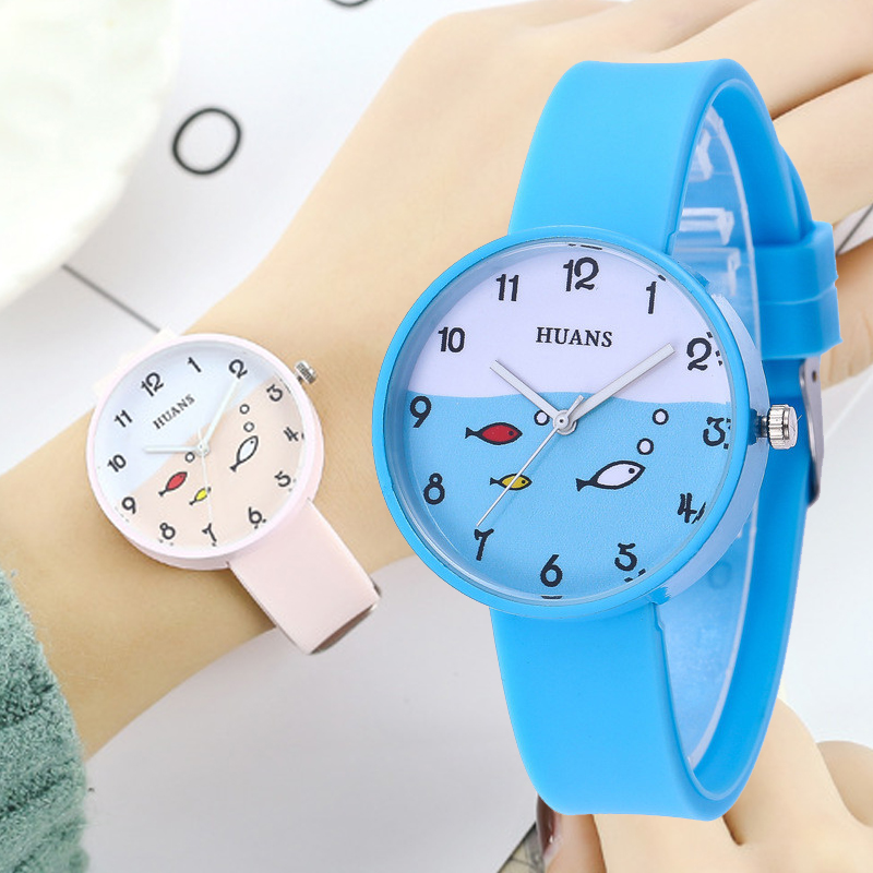 Fashion Fish Girls Watch For Children Kids Electronic Watches For Boys Child 1-10 Year Old Baby Christmas Gift Students Clock