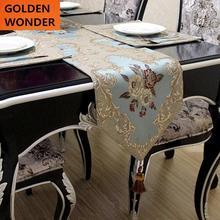 купить European Modern Jacquard Table Runner Christmas Table Runners Mat Home Decor High Quality Made In China недорого