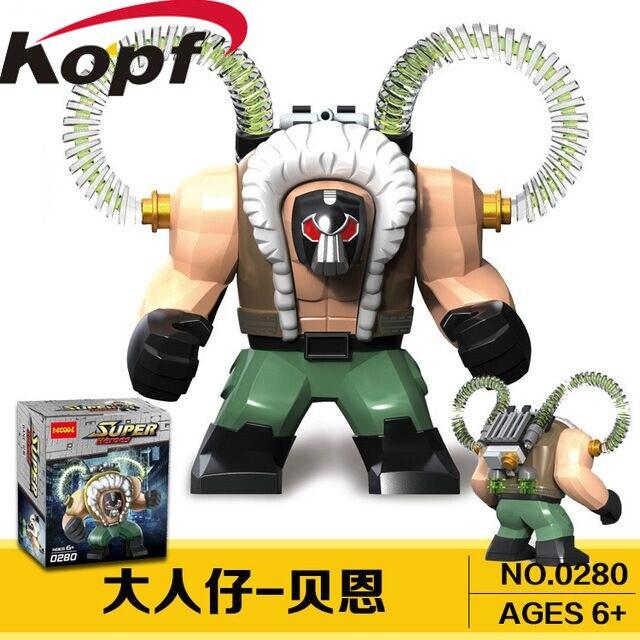 Nice Single Sale Decool 0288 0280 0281 7cm Big Size Super Heroes Bane Thanos Carnage Hulk Moana Toxin Building Blocks Children Toys Pure And Mild Flavor Blocks