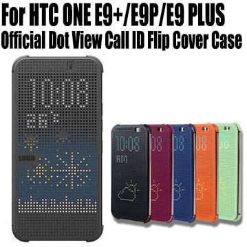 Retail Hot Sale For HTC ONE E9+ E9P E9 PLUS Silicon Case Official Dot View Call ID Flip Cover No: E901