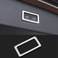 ABS Chrome Car Styling Rear Trunk Electric Button Frame Decal Cover Trim For Volkswagen VW Tiguan