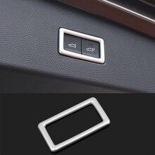 ABS Chrome стайлинга автомобилей задний багажник Электрический Кнопка кадров Наклейка Обложка отделка для Volkswagen VW Tiguan MK2 2016 2017 2018 аксессуары