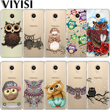 VIYISI Owl Animal For Meizu M6 5 Note Phone Case Cover M5S 5C M3s 3 Pro6 U10 U20 Soft Silicone TPU Back Coque Shell