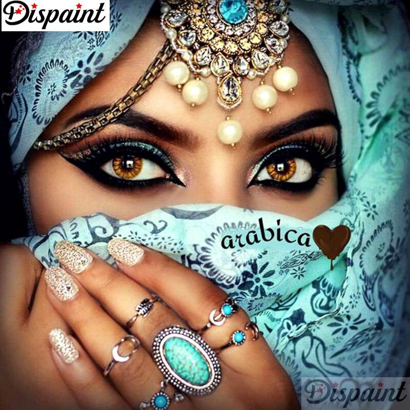 """Dispaint полный квадрат/круглая дрель 5D DIY алмазная живопись """"женщина в маске"""" вышивка крестиком 3D домашний декор A11483"""