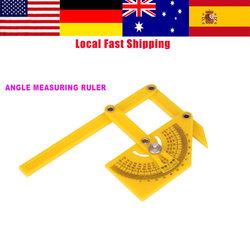 Hot Sale Goniometer Woodworking Angle Ruler 180 Degree Protractor Angle Finder Miter Gauge Arm Measuring Rulers w/ Articulating