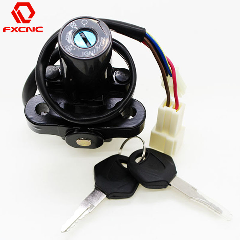 For Yamaha YZF R1 02-13 YZF R6 06-13 YZF R6S 03-09 FZ6 FZ6S FZ6N 04-10 CNC Motorcycle Switch Motorcycle Ignition Switch Key