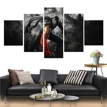 5 Piece Games Art Print Ninja Gaiden Video Games Poster RYU HAYABUSA Pictures Artwork Canvas Paintings Wall Art for Home Decor все цены