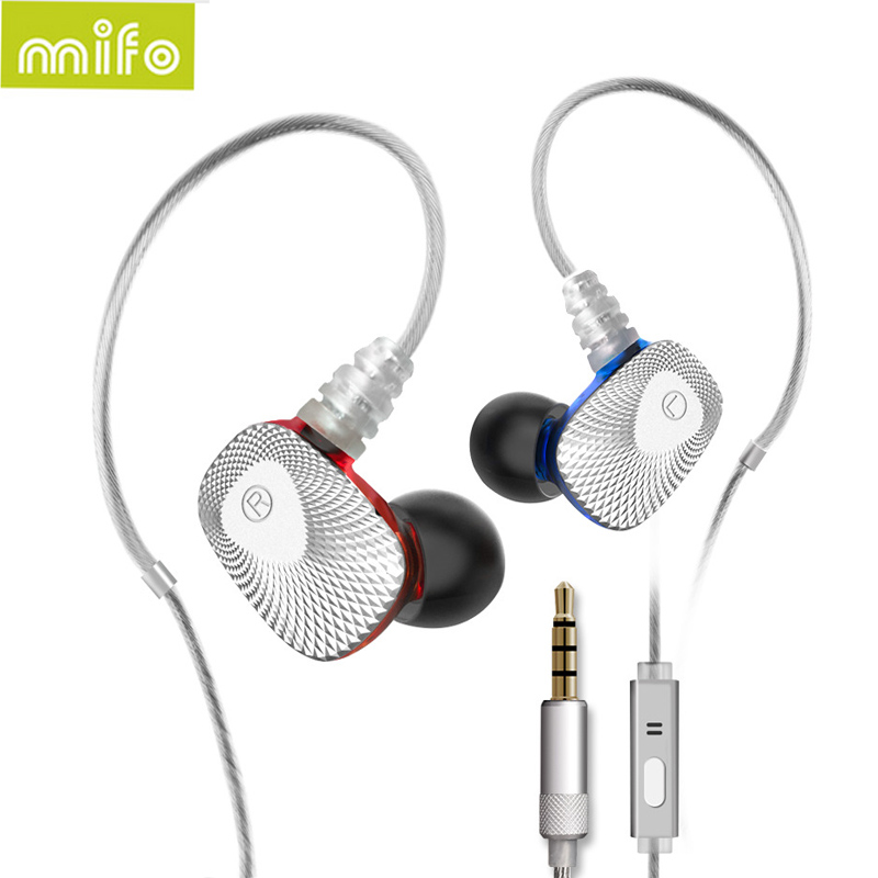 Newest Mifo R1 Hifi Earbuds Graphene Dual Dynamic Earphone Stereo In-Ear Headphone Bass Headset Mic Earphones Ecouteur for Phone